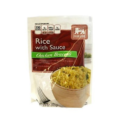Food Lion Chicken & Broccoli Rice with sauce