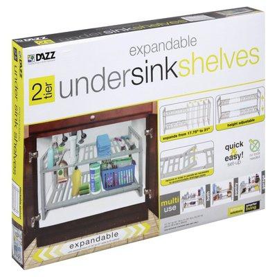 Dazz Undersink Shelves, Expandable, 2 Tier