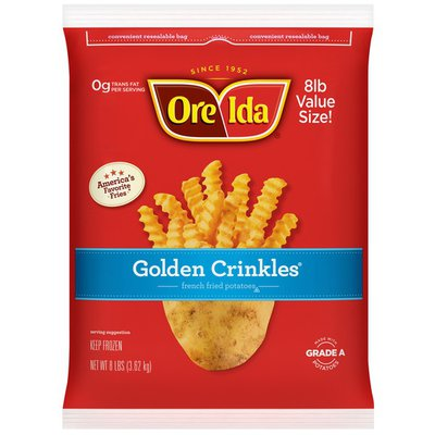 Ore-Ida Golden Crinkles French Fries Fried Frozen Potatoes Value Size