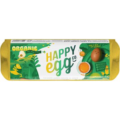 Happy Egg Co Organic Free Range Large Brown Grade A Eggs