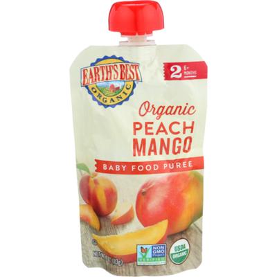 Earth's Best Stage 2 Peach Mango Organic Baby Food Puree
