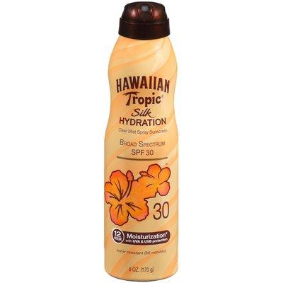 Hawaiian Tropic Silk Hydration Broad Spectrum SPF 30 Clear Mist Spray Suncreen