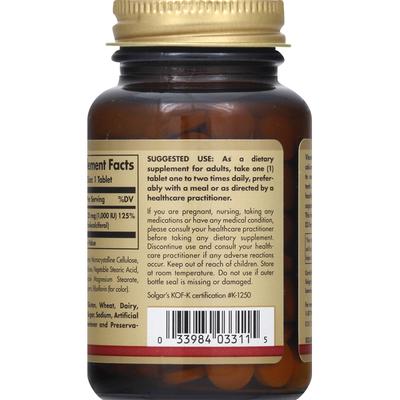 Solgar Vitamin D3, 25 mcg, Tablets