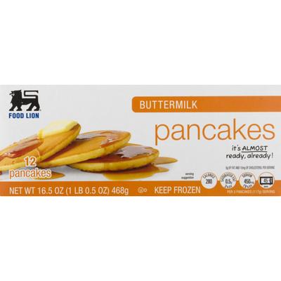 Food Lion Pancakes, Buttermilk, Box