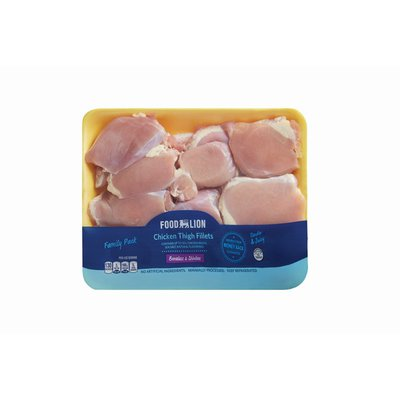 Food Lion Boneless Skinless Thighs Value Pack