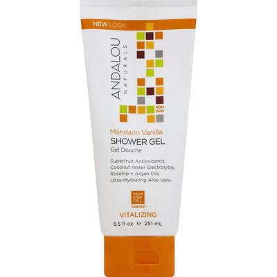 Andalou Naturals Shower Gel, Vitalizing, Mandarin Vanilla