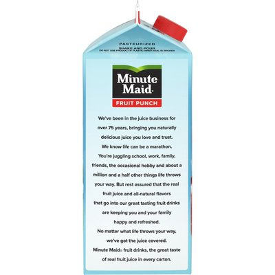 Minute Maid Fruit Punch, Made W/ Real Fruit Juice