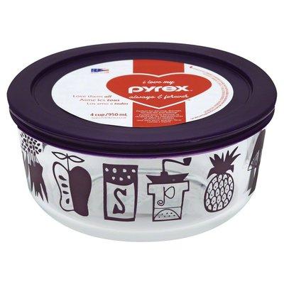 Pyrex Glass Storage, 4 Cup