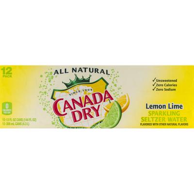 Canada Dry Lemon Lime Sparkling Seltzer Water