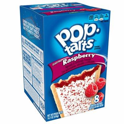 Kellogg's Pop-Tarts Breakfast Toaster Pastries, Frosted Raspberry