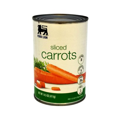 Food Lion Carrots, Sliced, Can