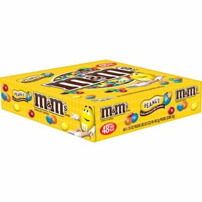 M&M's Peanut Chocolate Candy Singles Pouch