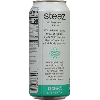 Steaz Green Tea, Organic, Mint Flavored, Antioxidant Brew
