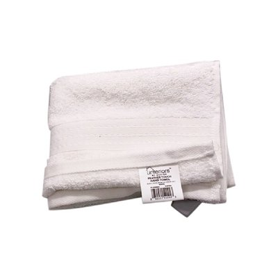 Interiors by Design White Feather Touch Hand Towel