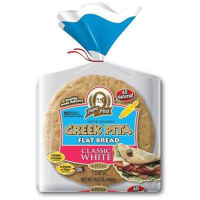 Papa Pita White Greek Pita Flat Bread
