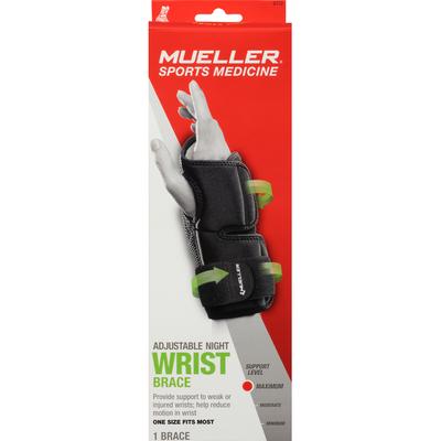 Mueller Wrist Brace, Adjustable Night, Maximum