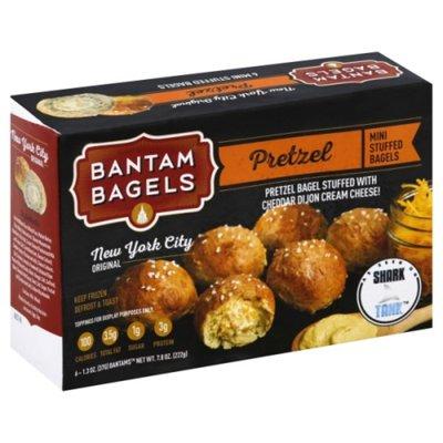 Bantam Bagels Mini Stuffed Bagels, Pretzel
