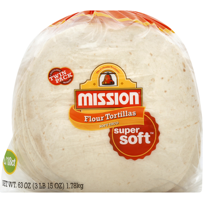 Mission Super Soft Medium Soft Taco Flour Tortillas