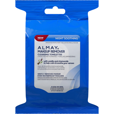Almay Makeup Remover Cleansing Towelettes Night Soothing
