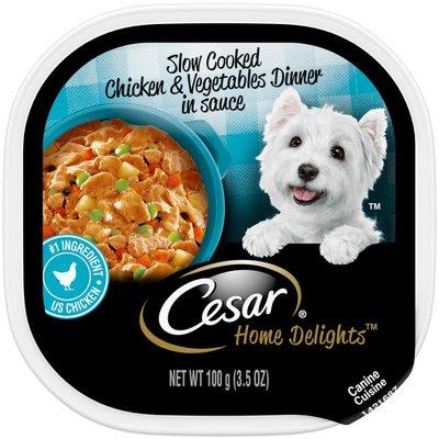 CESAR Home Delights Soft Wet Dog Food Slow Cooked Chicken & Vegetables Dinner in Sauce