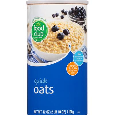 Food Club Oats, Quick
