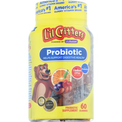 L'Il Critters Lil Critters Kids Probiotics Gummies, 60 Count