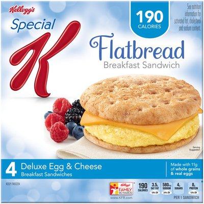 Kellogg's Special K Flatbread Deluxe Egg & Cheese Breakfast Sandwiches