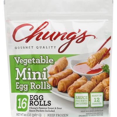 Chung's Egg Rolls, Vegetable, Mini