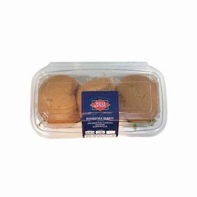 Dietz & Watson Homestyle Turkey With American Cheese Slider Sandwich