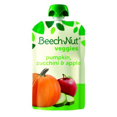 Beech-Nut Stage 4 Pumpkin  Zucchini  and Apple with Yogurt Veggie Blends
