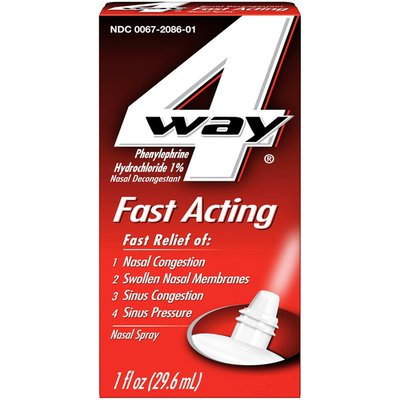 4Way Fast Acting Nasal Spray for Nasal & Sinus Congestion