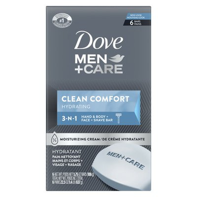 Dove Body Soap And Face Bar Clean Comfort