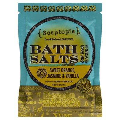 Soaptopia Bath Salts, Sweet Orange, Jasmine & Vanilla