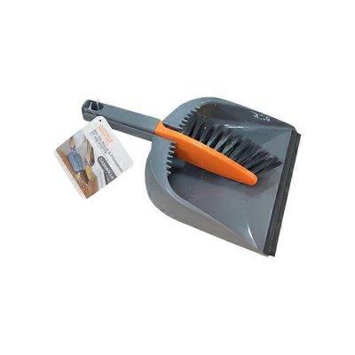 Casabella Graphite & Orange Dustpan & Brush Set