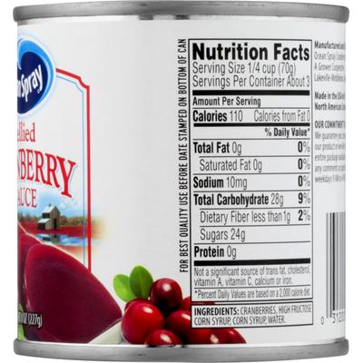 Ocean Spray Cranberry Sauce, Jellied
