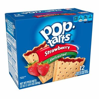 Kellogg's Pop-Tarts Breakfast Toaster Pastries, Unfrosted Strawberry
