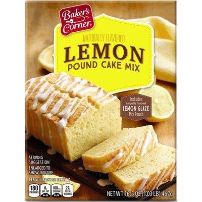 Baker's Corner Lemon Pound Cake Mix