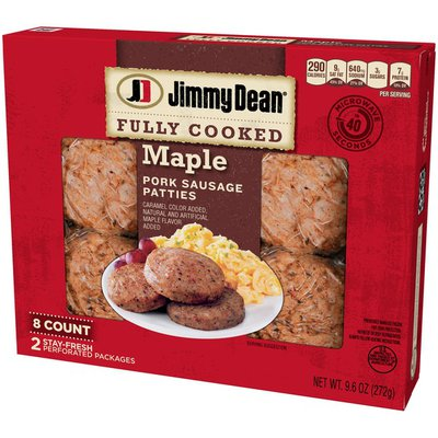 Jimmy Dean Fully Cooked Maple Pork Sausage Patties