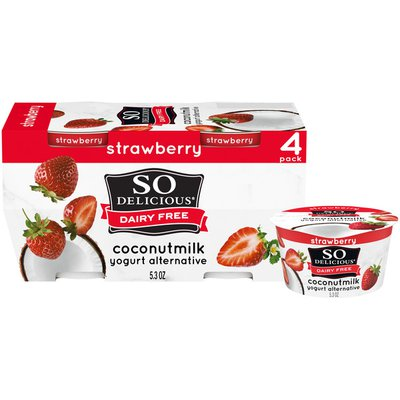 So Delicious Dairy Free Strawberry Coconut Milk Yogurt