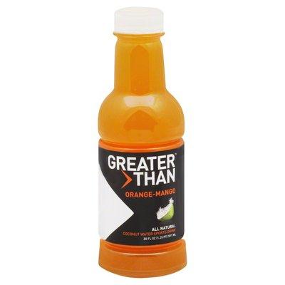 Greater Than Sports Drink, Coconut Water, Orange-Mango