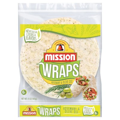 Mission Wraps Rosemary & Olive Oil Tortillas