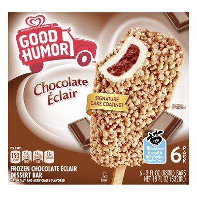 Good Humor Frozen Dairy Dessert Bars Chocolate Eclair