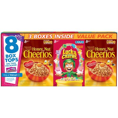General Mills Honey Nut Cheerios/Lucky Charms Variety Pack Cereal