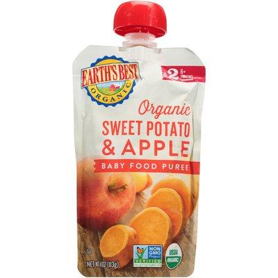 Earth's Best Stage 2 Sweet Potato & Apple Organic Baby Food Puree