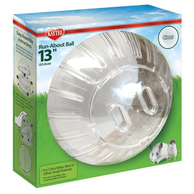 """Super Pet 13"""" Clear Run About Ball For Small Pets Size Kyt Mega"""