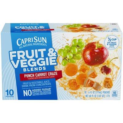 Capri Sun Fruit & Veggie Blends Punch Carrot Craze Juice Drink