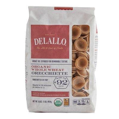DeLallo Organic Whole Wheat Orecchiette # 92