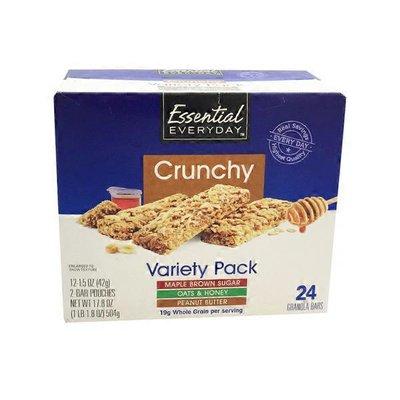 Essential Everyday Crunch Granola Bars Variety Pack