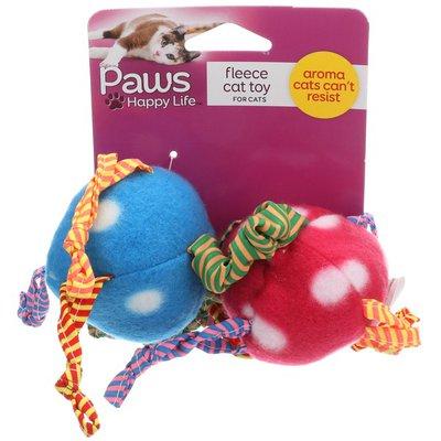 Paws Happy Life Fleece Balls with Catnip Cat Toys