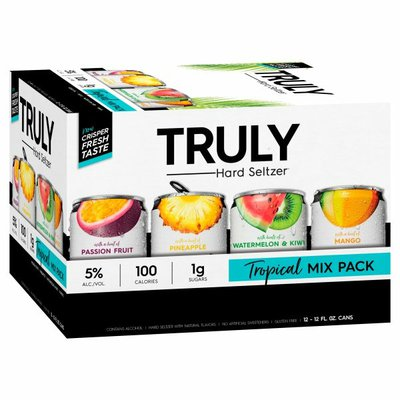 TRULY Hard Seltzer Tropical Variety Pack, Spiked & Sparkling Water